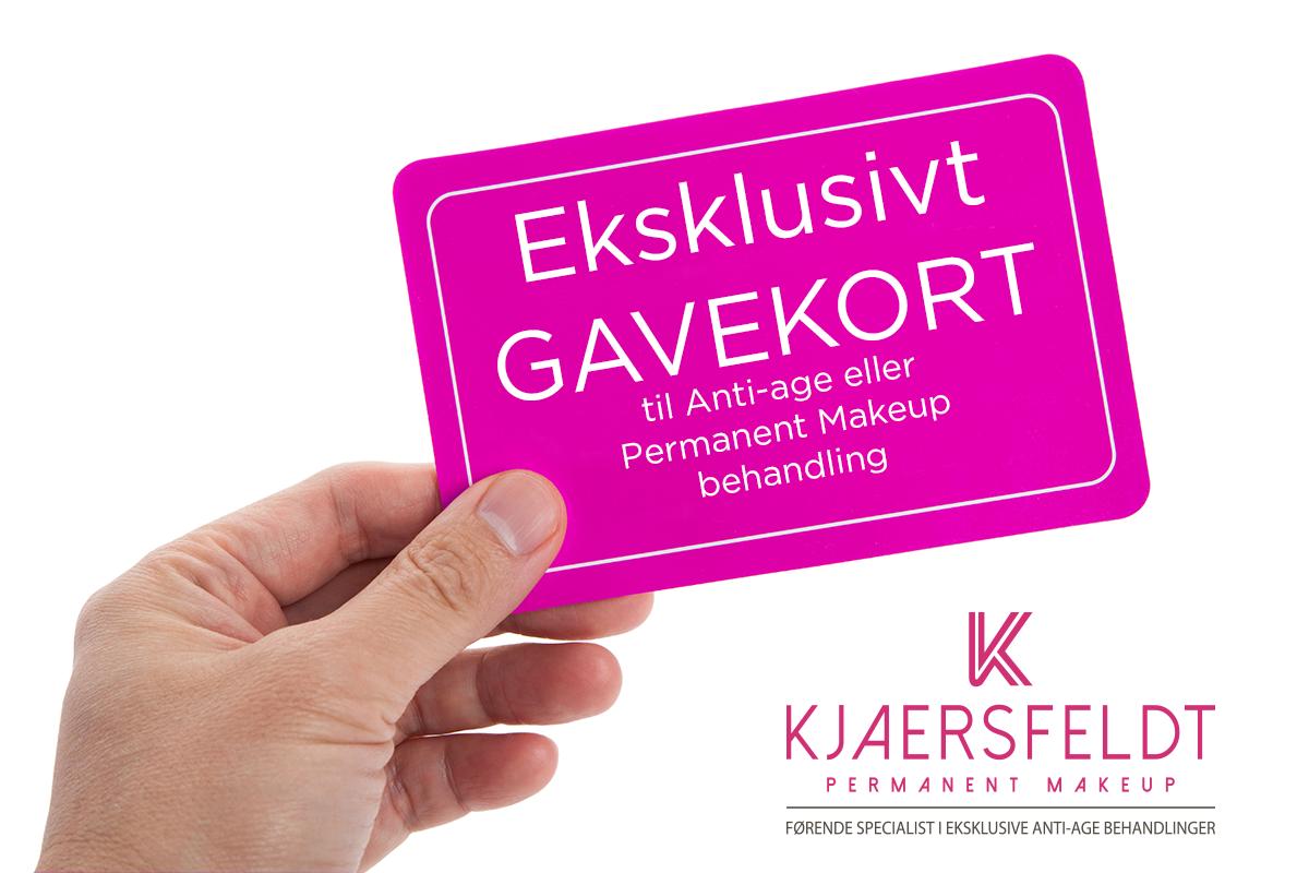 Gavekort til Anti-Age eller Permanent Makeup behandling hos Kjaersfeldt.dk