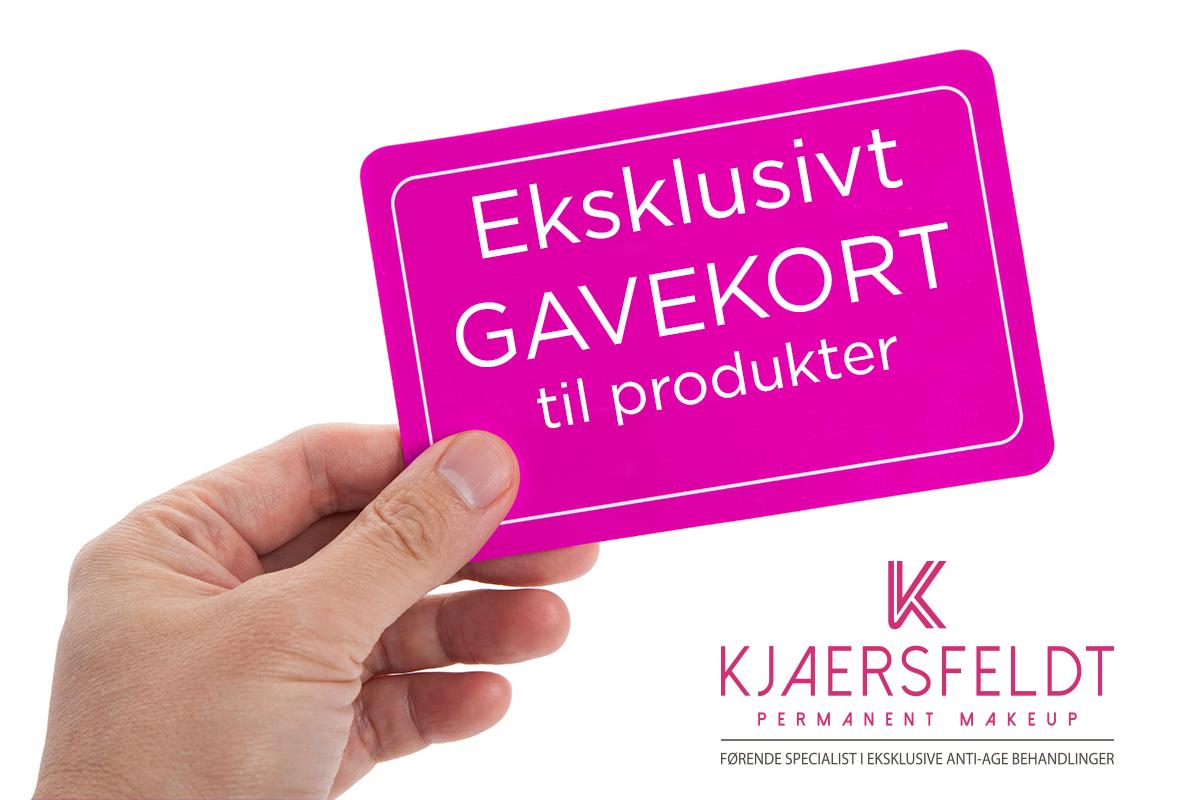 Gavekort til produkter hos Kjaersfeldt.dk